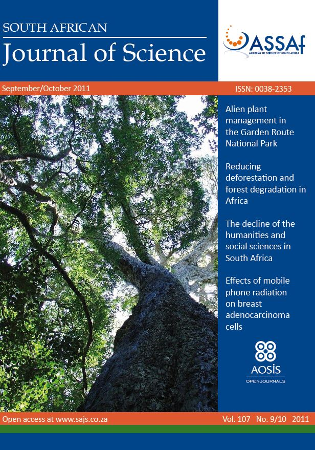 View Vol. 107 No. 9/10 (2011): South African Journal of Science