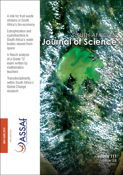 View Vol. 111 No. 5/6 (2015): South African Journal of Science