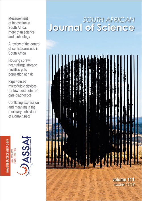 View Vol. 111 No. 11/12 (2015): South African Journal of Science