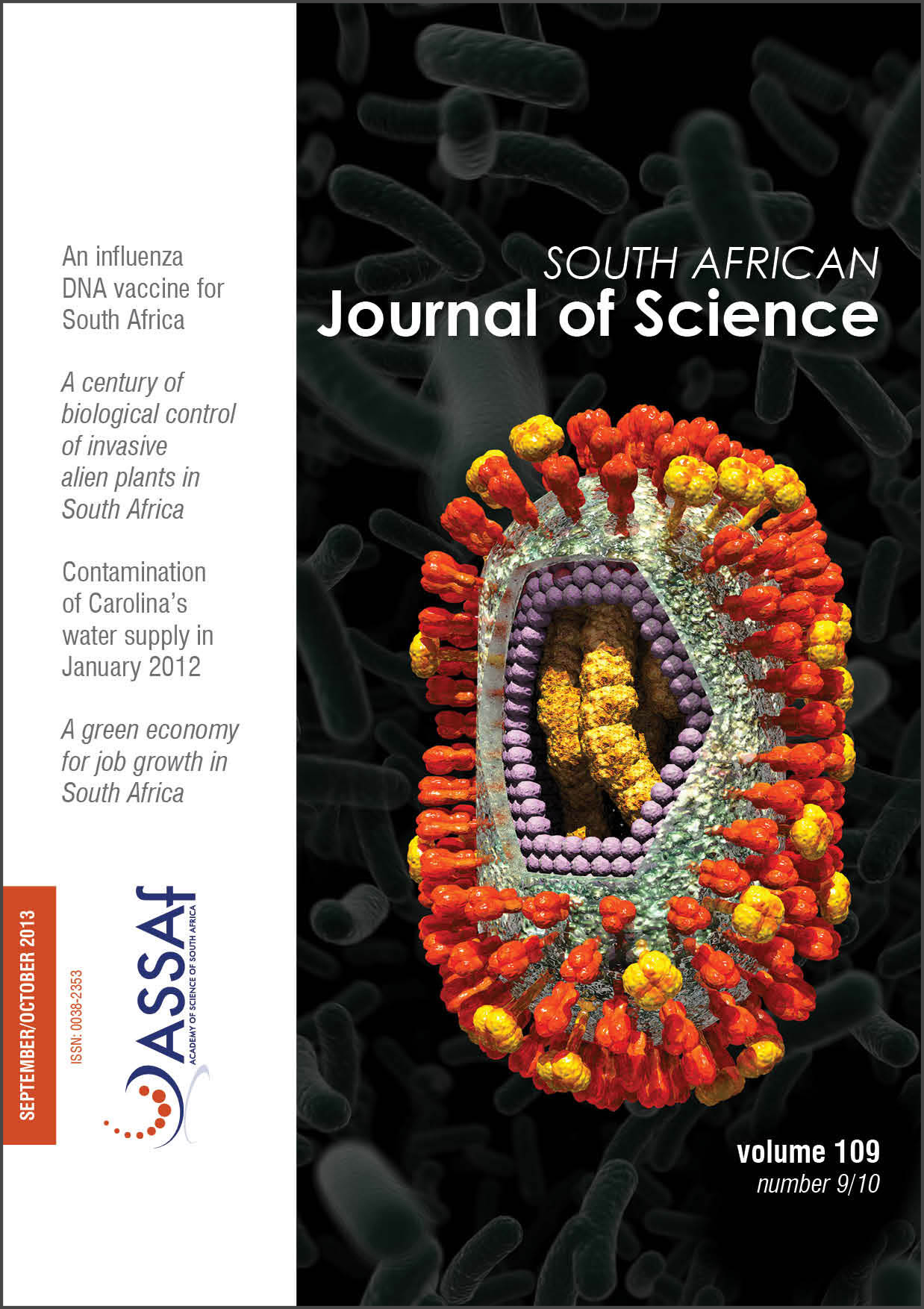 View Vol. 109 No. 9/10 (2013): South African Journal of Science
