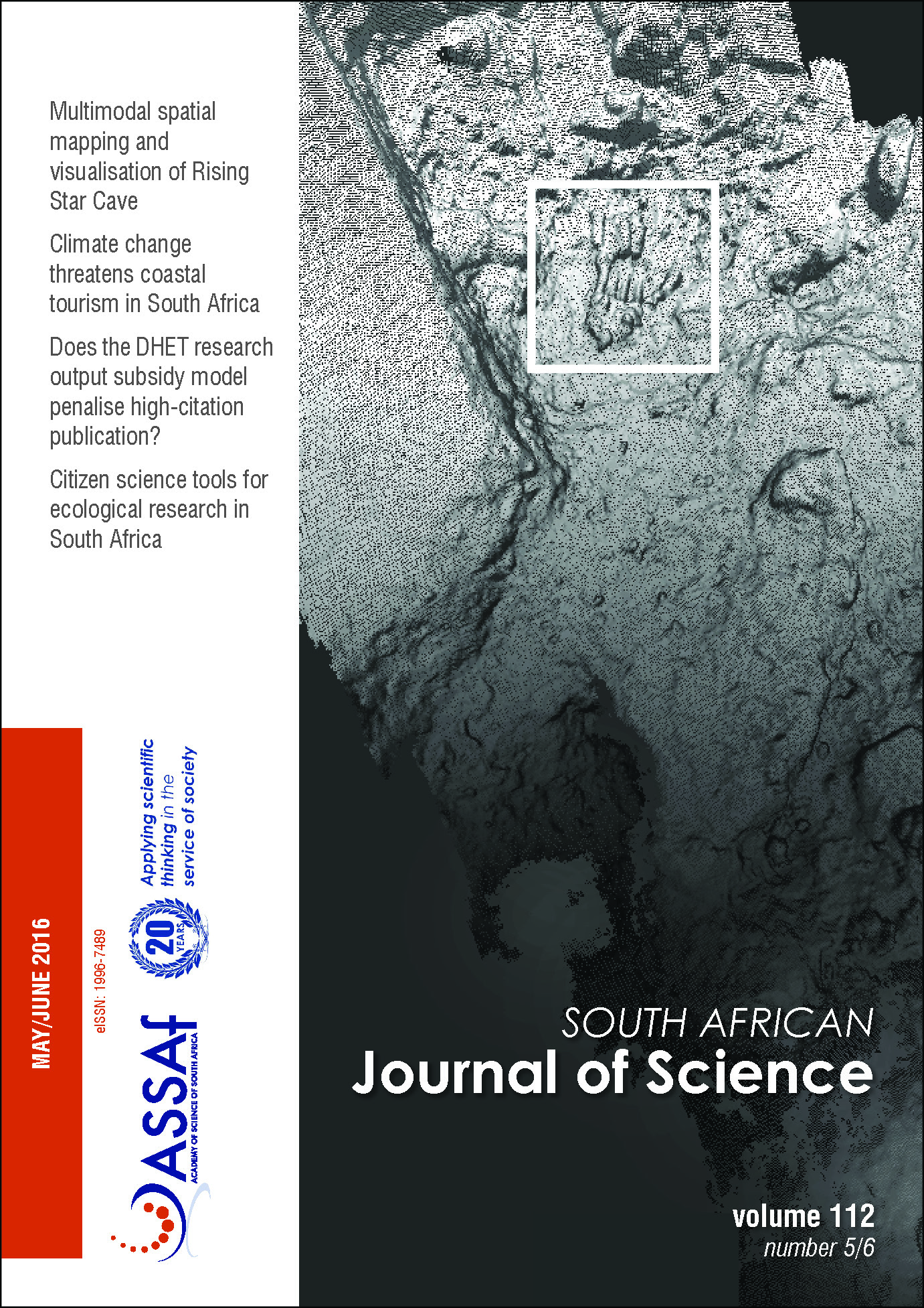View Vol. 112 No. 5/6 (2016): South African Journal of Science